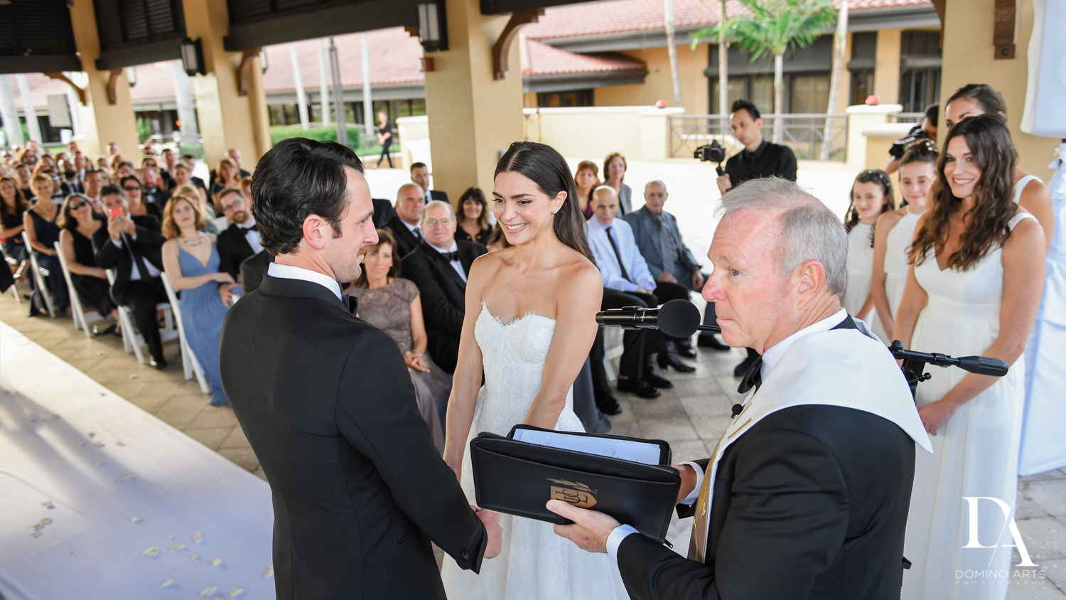 jewish ceremony at Stunning Golf Course Wedding at PGA National Palm Beach by Domino Arts Photography
