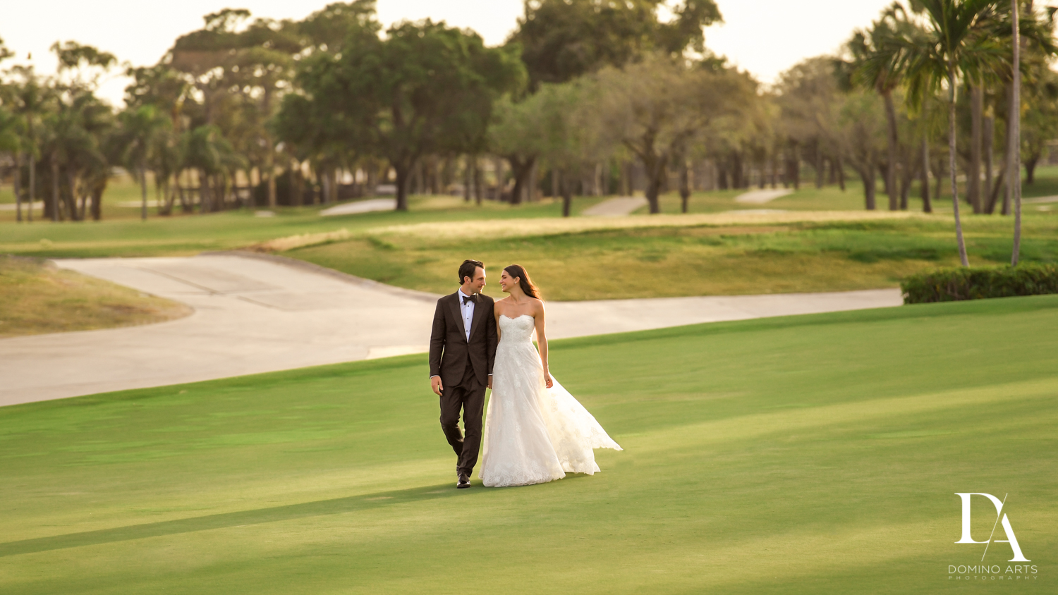 Sunset at Stunning Golf Course Wedding at PGA National Palm Beach by Domino Arts Photography