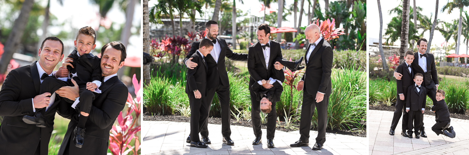 groomsmen at Stunning Golf Course Wedding at PGA National Palm Beach by Domino Arts Photography