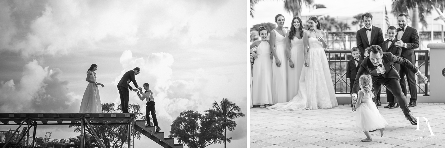 B&W photo journalism at Stunning Golf Course Wedding at PGA National Palm Beach by Domino Arts Photography