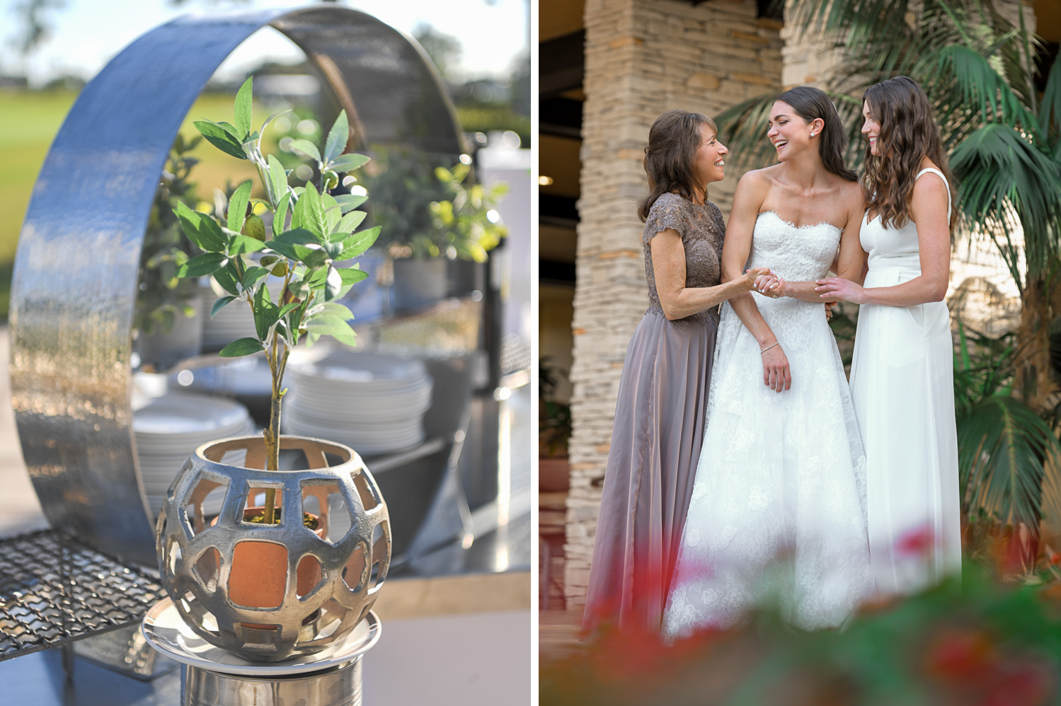 girls and details at Stunning Golf Course Wedding at PGA National Palm Beach by Domino Arts Photography
