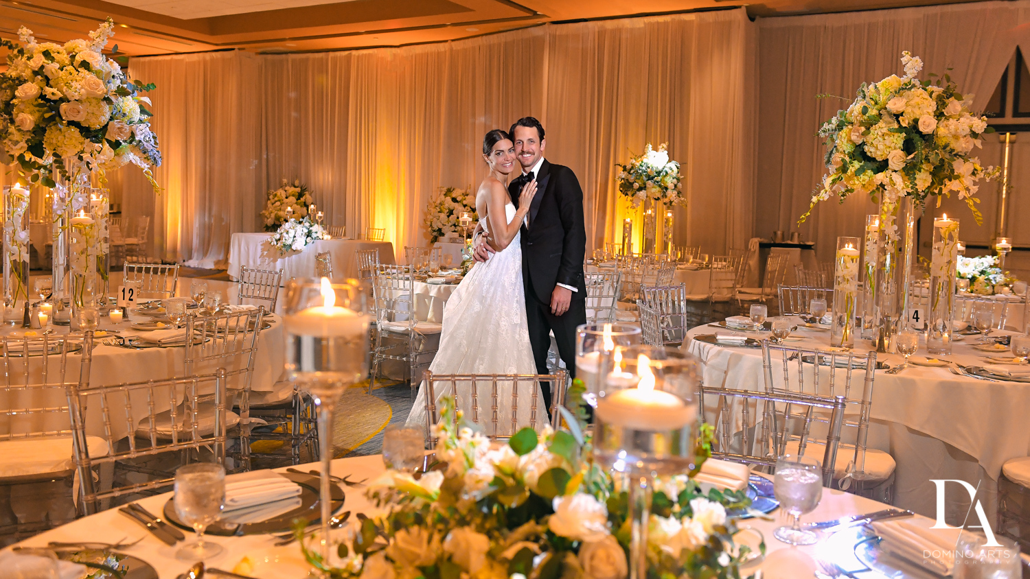 luxury decor at Stunning Golf Course Wedding at PGA National Palm Beach by Domino Arts Photography