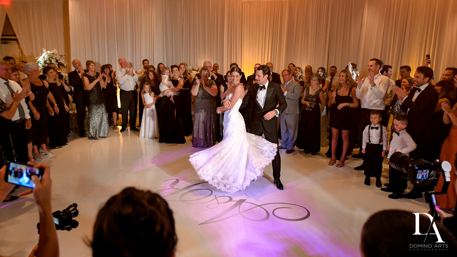 first dance at Stunning Golf Course Wedding at PGA National Palm Beach by Domino Arts Photography