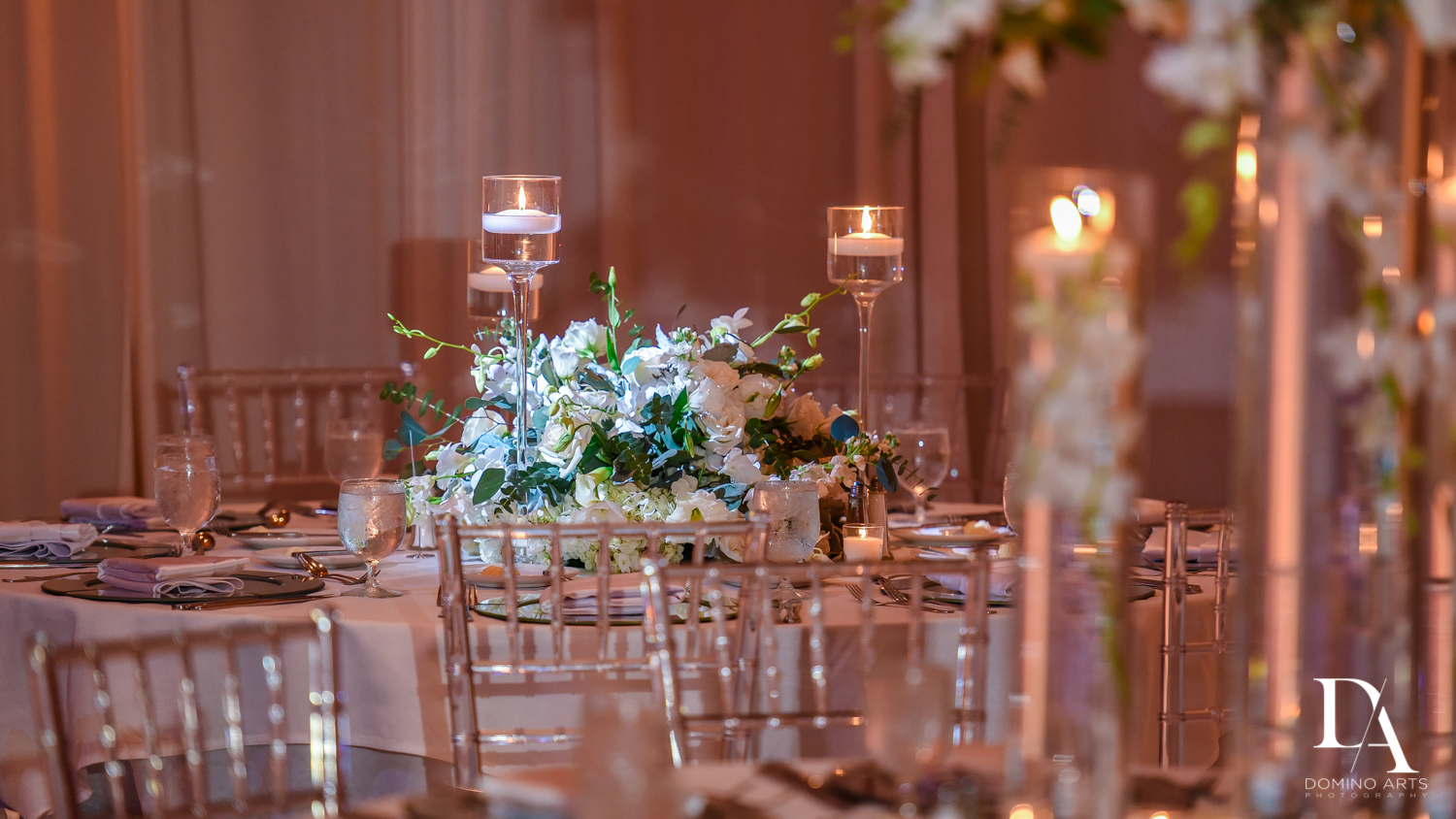 high end decor at Stunning Golf Course Wedding at PGA National Palm Beach by Domino Arts Photography