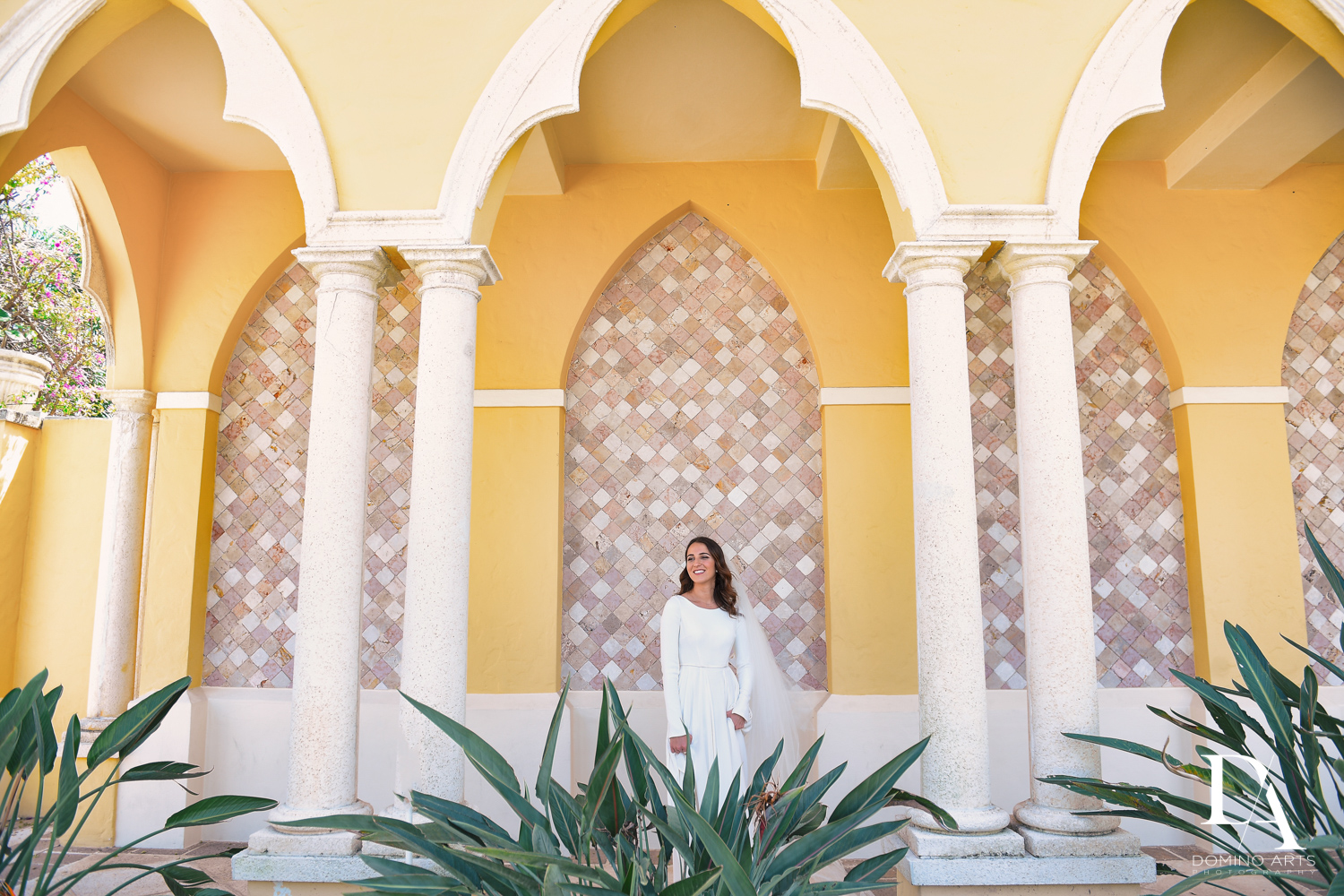 bride at Hasidic Jewish Wedding at The Addison in Boca Raton by Domino Arts Photography