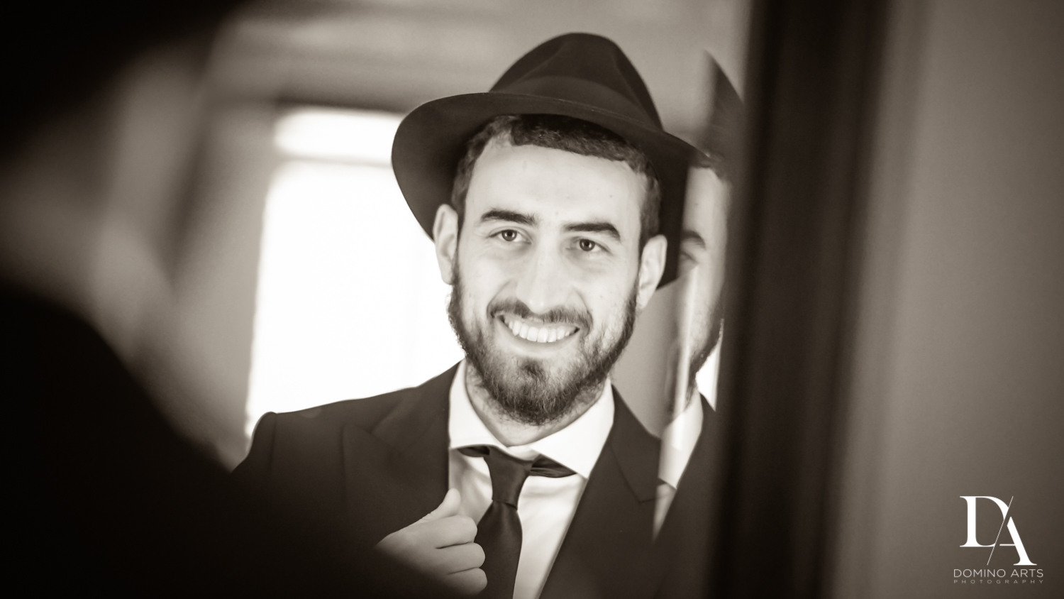 groom at Hasidic Jewish Wedding at The Addison in Boca Raton by Domino Arts Photography
