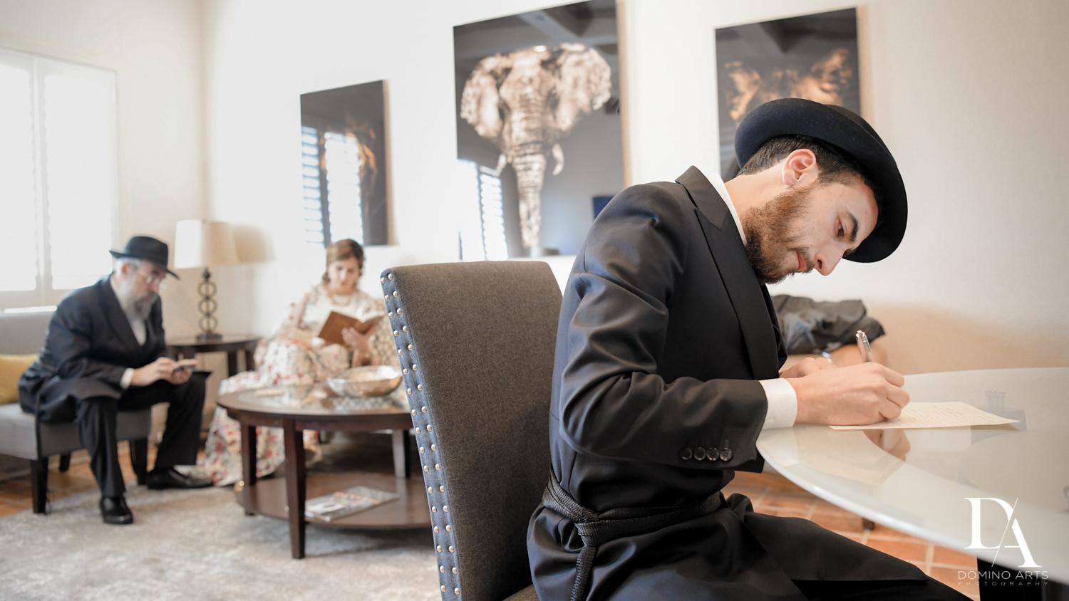 vows at Hasidic Jewish Wedding at The Addison in Boca Raton by Domino Arts Photography