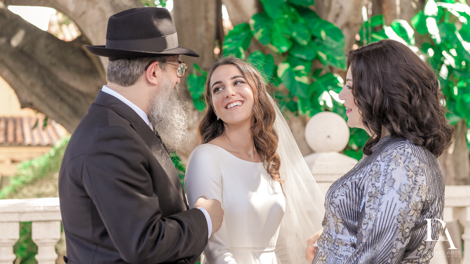 bride and father at Hasidic Jewish Wedding at The Addison in Boca Raton by Domino Arts Photography