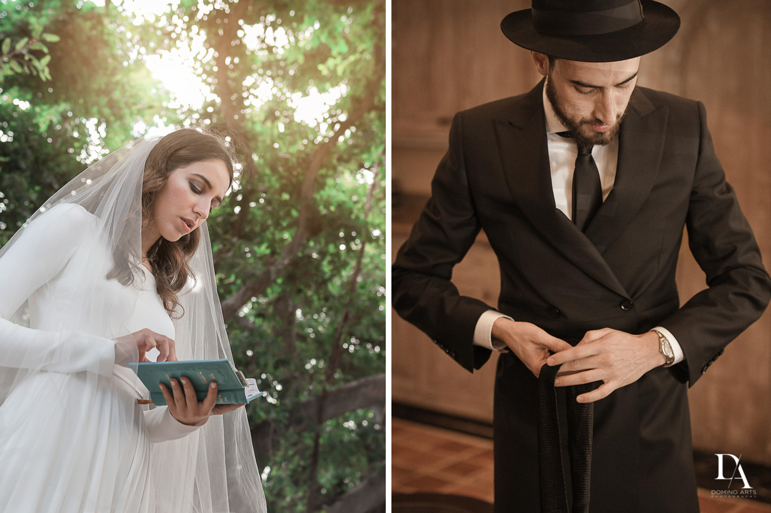 getting ready at Hasidic Jewish Wedding at The Addison in Boca Raton by Domino Arts Photography