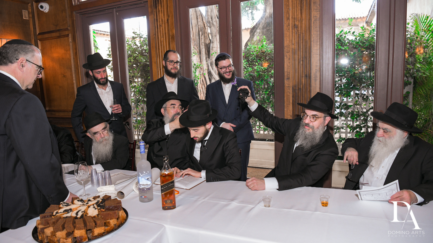 Tish tradition at Hasidic Jewish Wedding at The Addison in Boca Raton by Domino Arts Photography