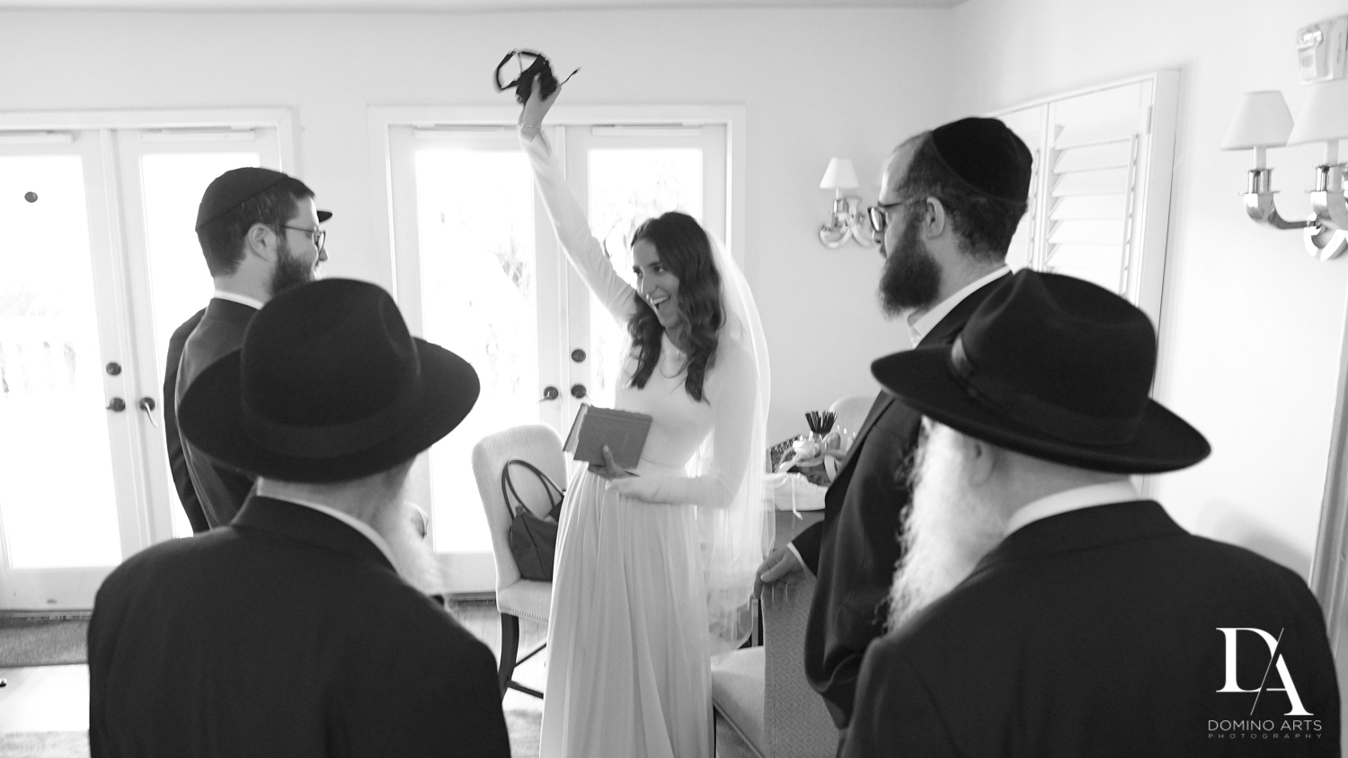 bride traditions at Hasidic Jewish Wedding at The Addison in Boca Raton by Domino Arts Photography