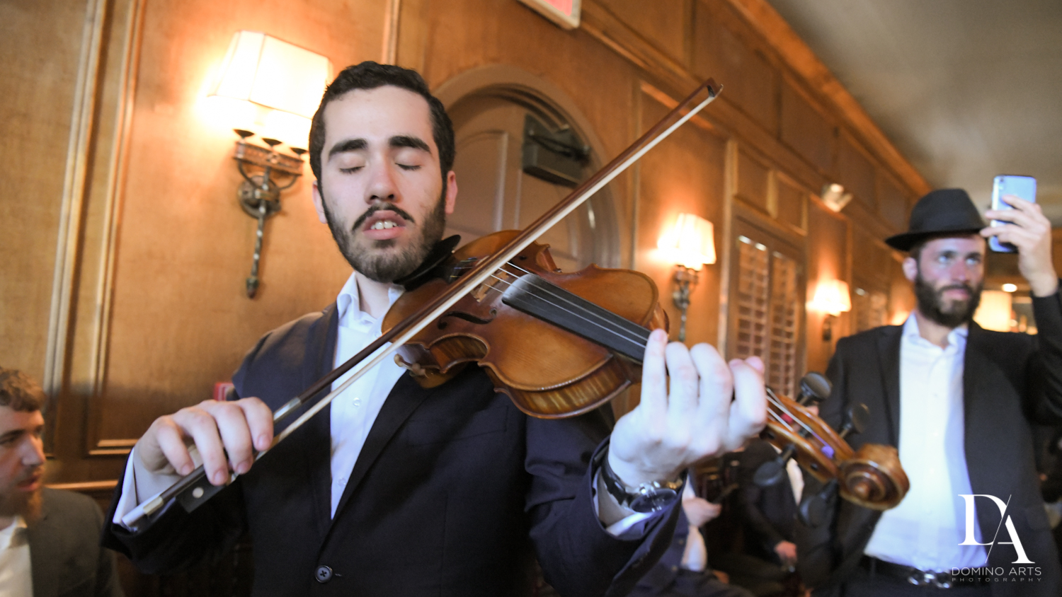 live violinist at Hasidic Jewish Wedding at The Addison in Boca Raton by Domino Arts Photography