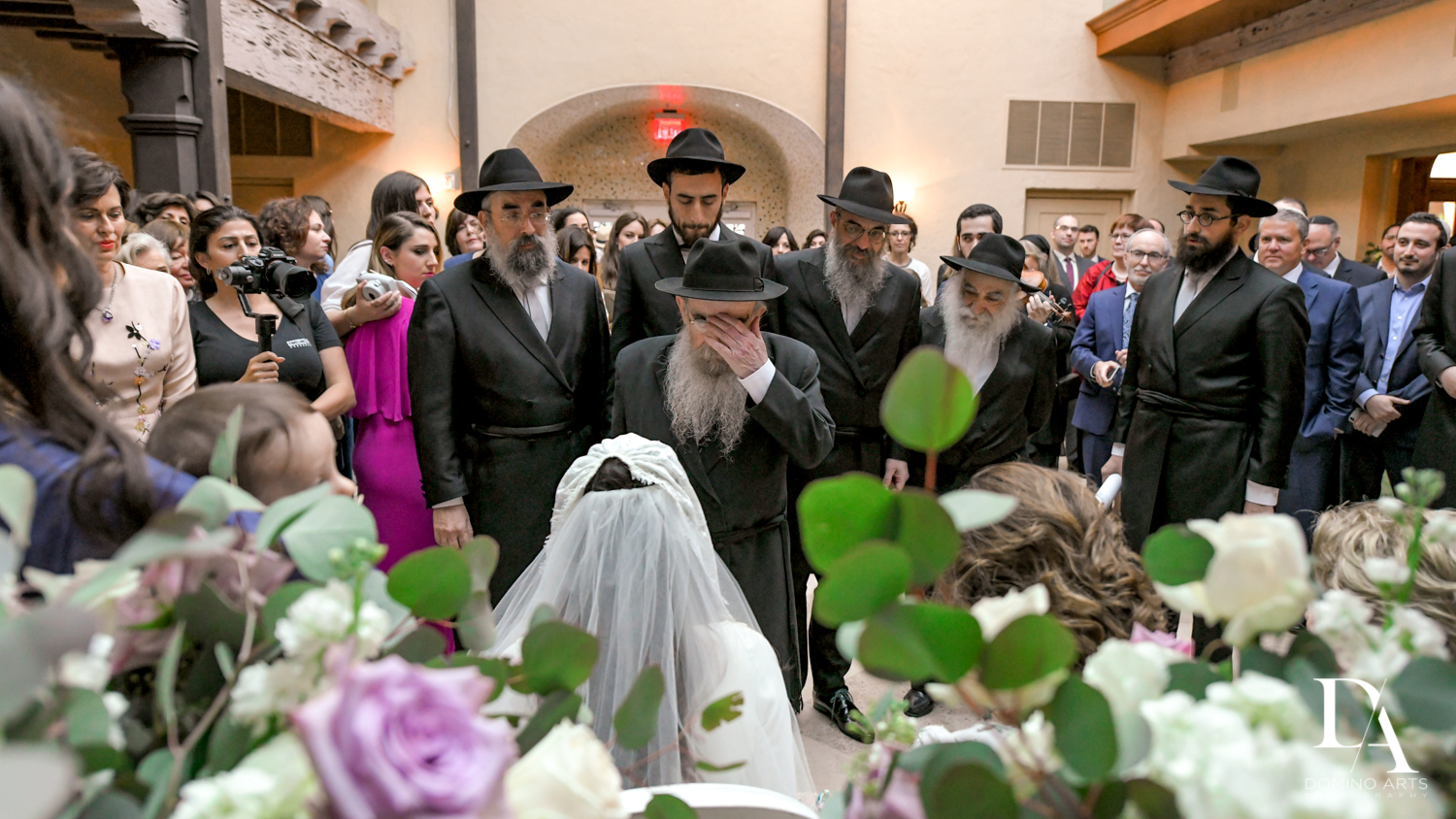 Bedeken rabbi customs at Hasidic Jewish Wedding at The Addison in Boca Raton by Domino Arts Photography