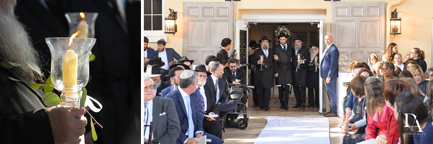 wedding procession for Hasidic Jewish Wedding at The Addison in Boca Raton by Domino Arts Photography