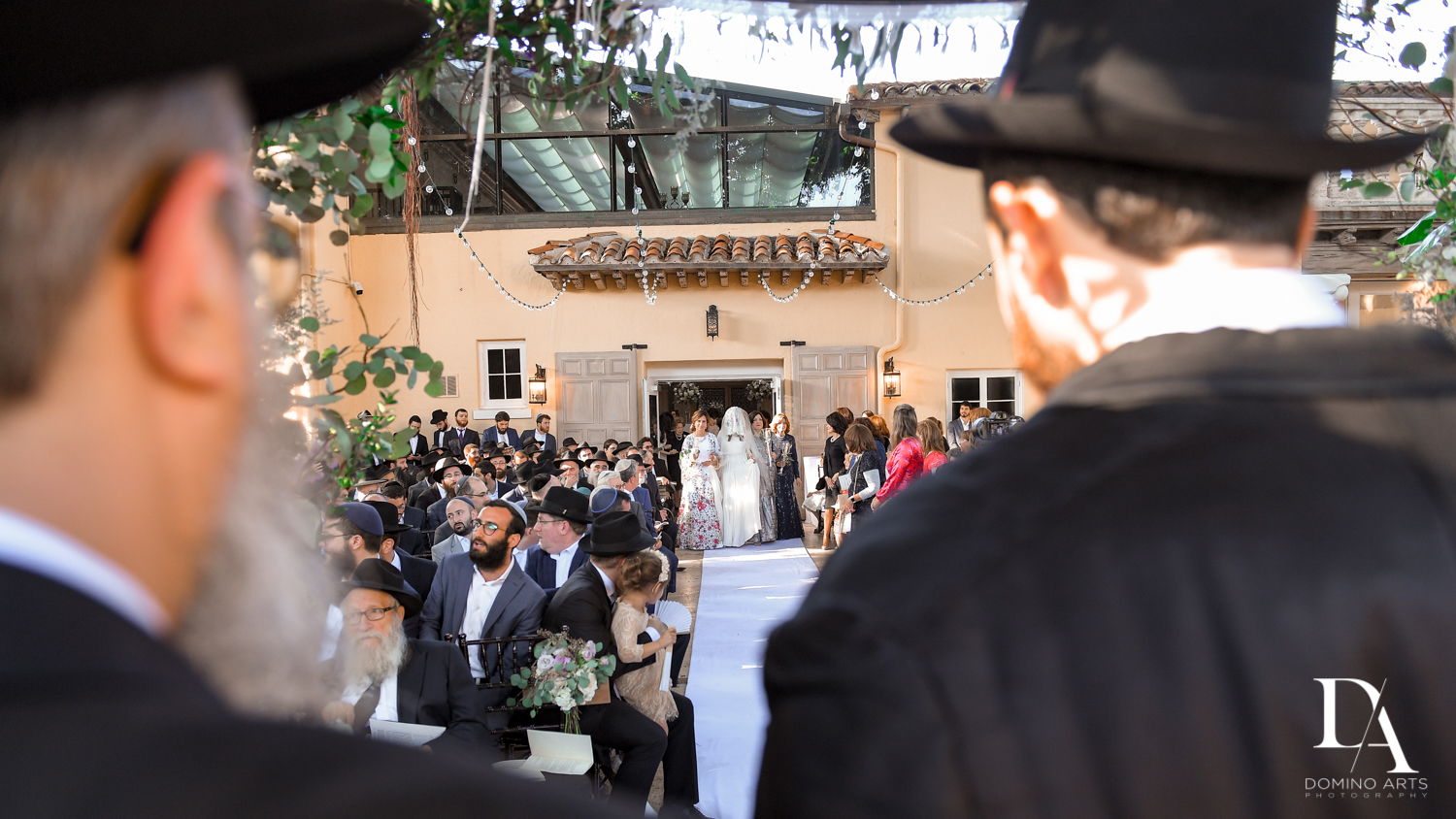 procession at Hasidic Jewish Wedding at The Addison in Boca Raton by Domino Arts Photography