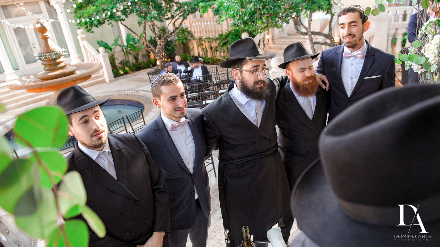 groomsmen at Hasidic Jewish Wedding at The Addison in Boca Raton by Domino Arts Photography