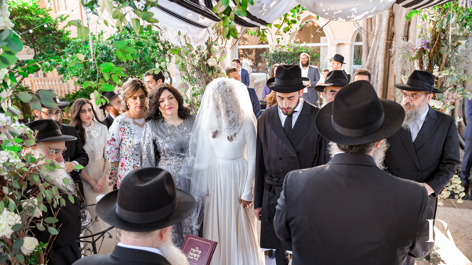 orthodox ceremony at Hasidic Jewish Wedding at The Addison in Boca Raton by Domino Arts Photography