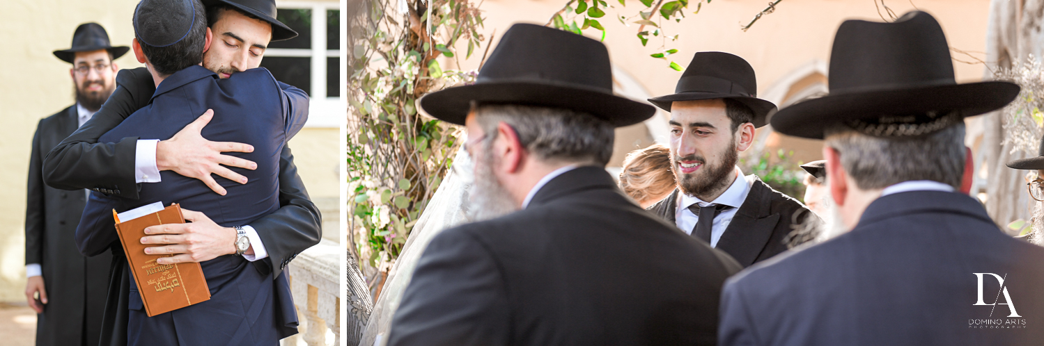 ceremony for Hasidic Jewish Wedding at The Addison in Boca Raton by Domino Arts Photography