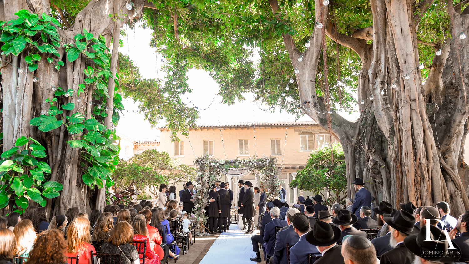outdoor ceremony at Hasidic Jewish Wedding at The Addison in Boca Raton by Domino Arts Photography