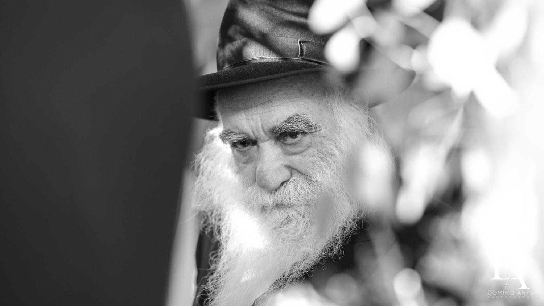B&W Rabbi at Hasidic Jewish Wedding at The Addison in Boca Raton by Domino Arts Photography