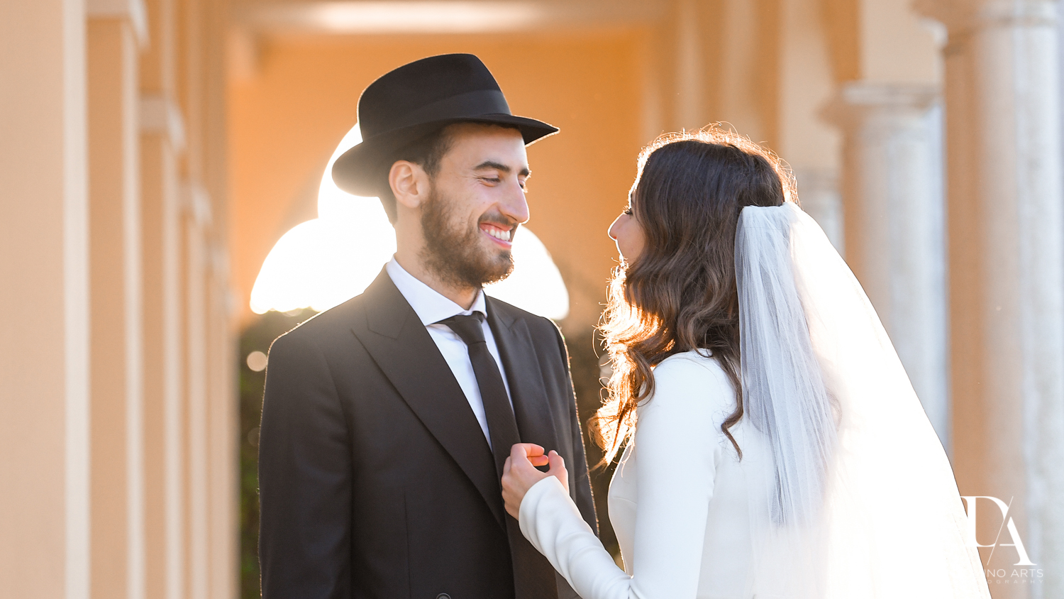 bride and groom portraits at Hasidic Jewish Wedding at The Addison in Boca Raton by Domino Arts Photography