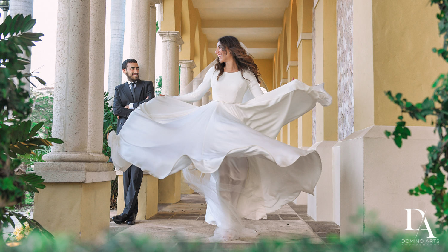 spinning bride at Hasidic Jewish Wedding at The Addison in Boca Raton by Domino Arts Photography