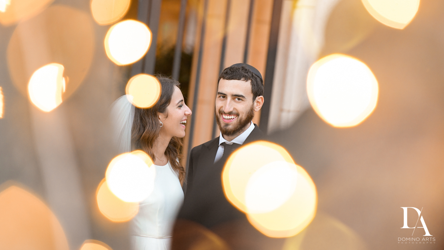 creative portraits at Hasidic Jewish Wedding at The Addison in Boca Raton by Domino Arts Photography