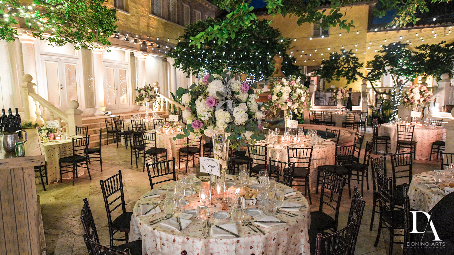 beautiful decor at Hasidic Jewish Wedding at The Addison in Boca Raton by Domino Arts Photography