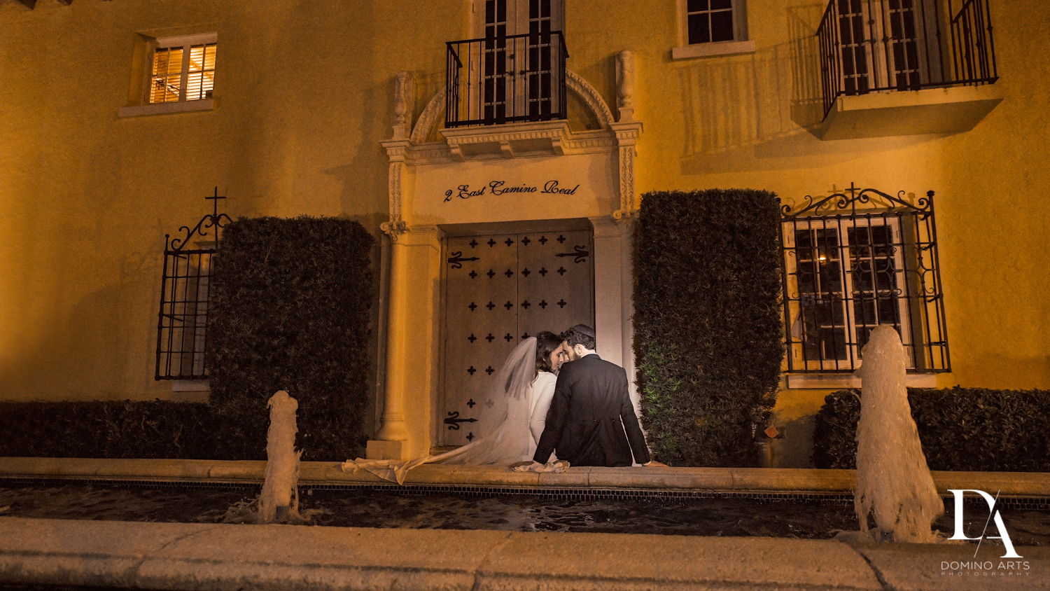 romantic photos at Hasidic Jewish Wedding at The Addison in Boca Raton by Domino Arts Photography