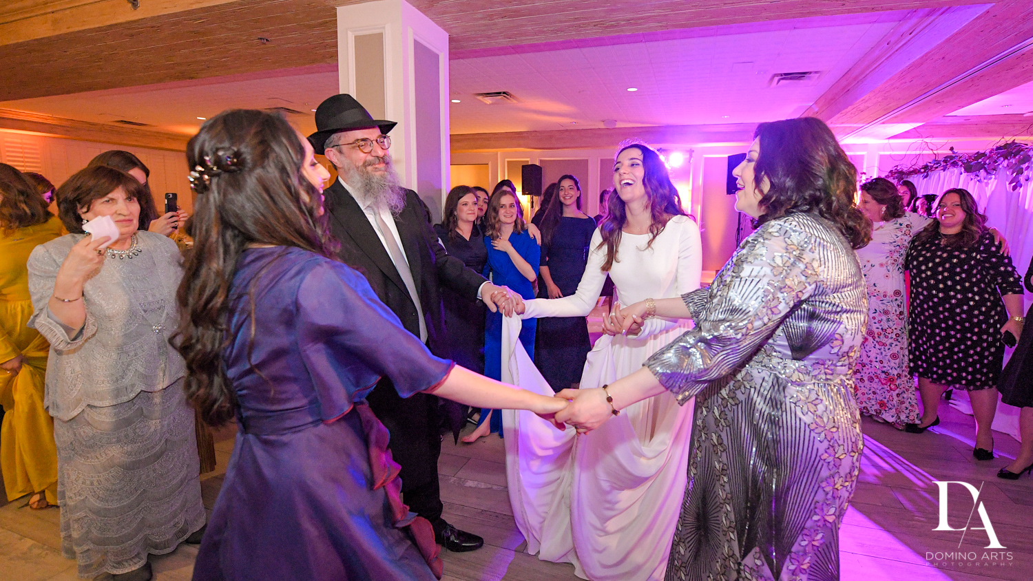 party photos at Hasidic Jewish Wedding at The Addison in Boca Raton by Domino Arts Photography