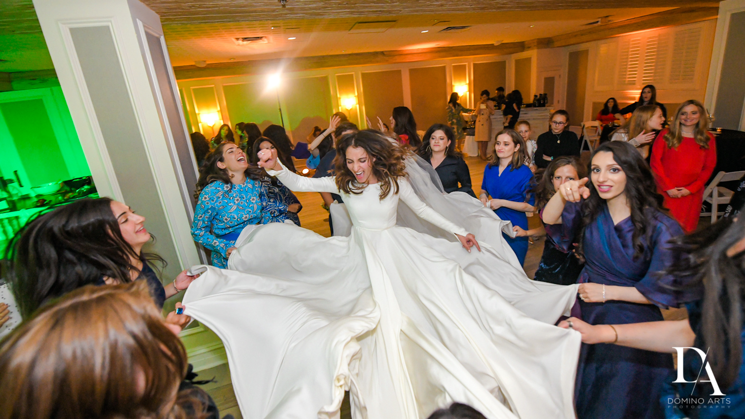 fun reception at Hasidic Jewish Wedding at The Addison in Boca Raton by Domino Arts Photography