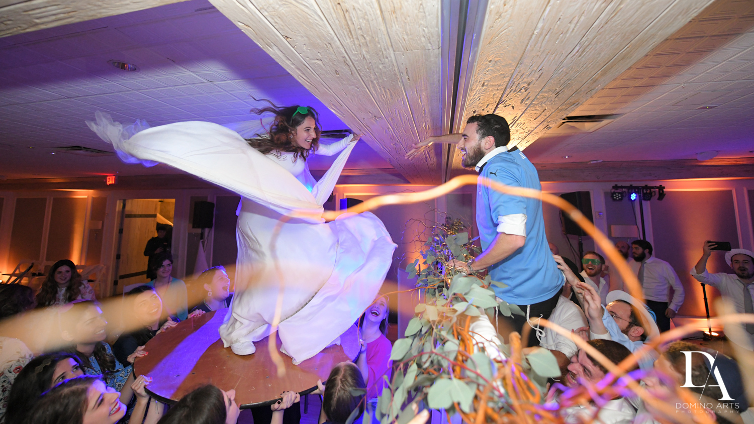 Orthodox Hora at Hasidic Jewish Wedding at The Addison in Boca Raton by Domino Arts Photography