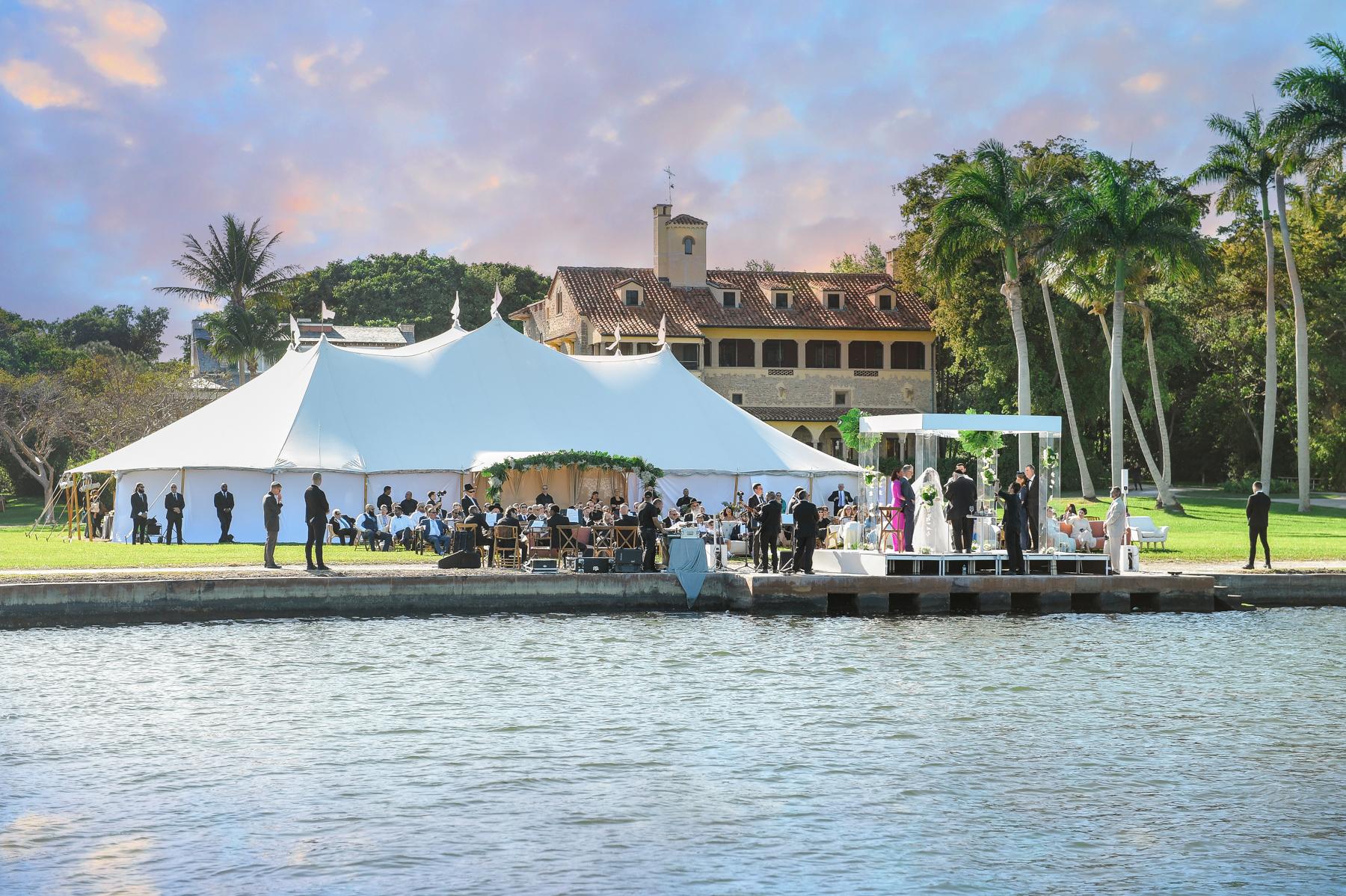 Outdoor Tent Jewish Wedding at Deering Estate Miami
