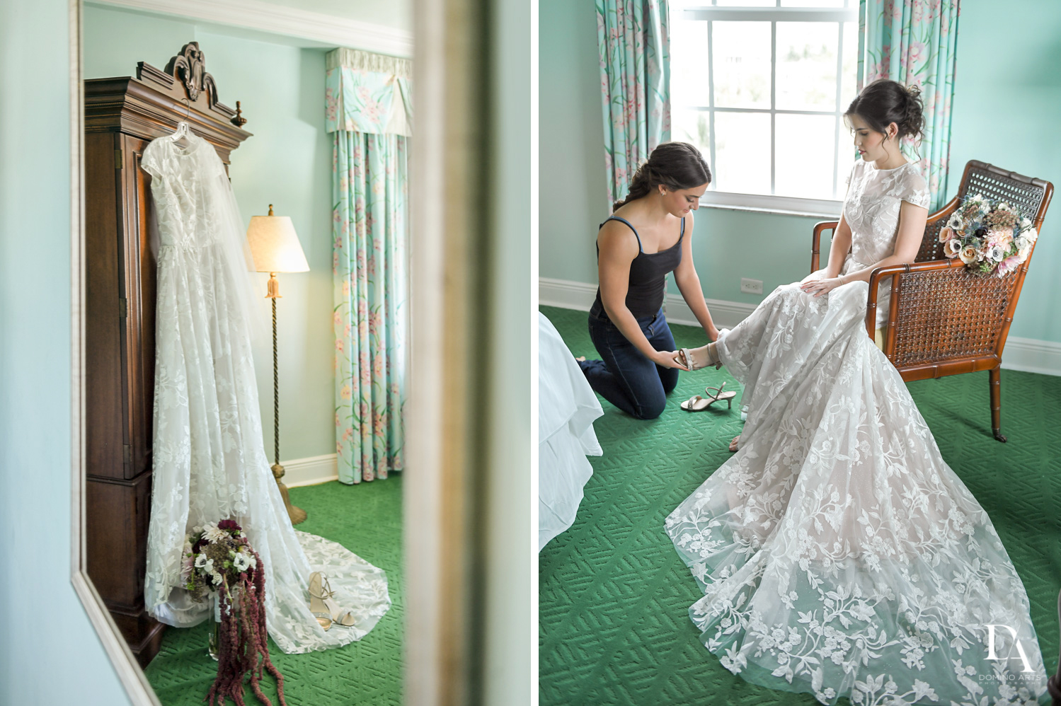 bridal dress at Luxury Summer Wedding at The Colony Hotel Palm Beach by Domino Arts Photography