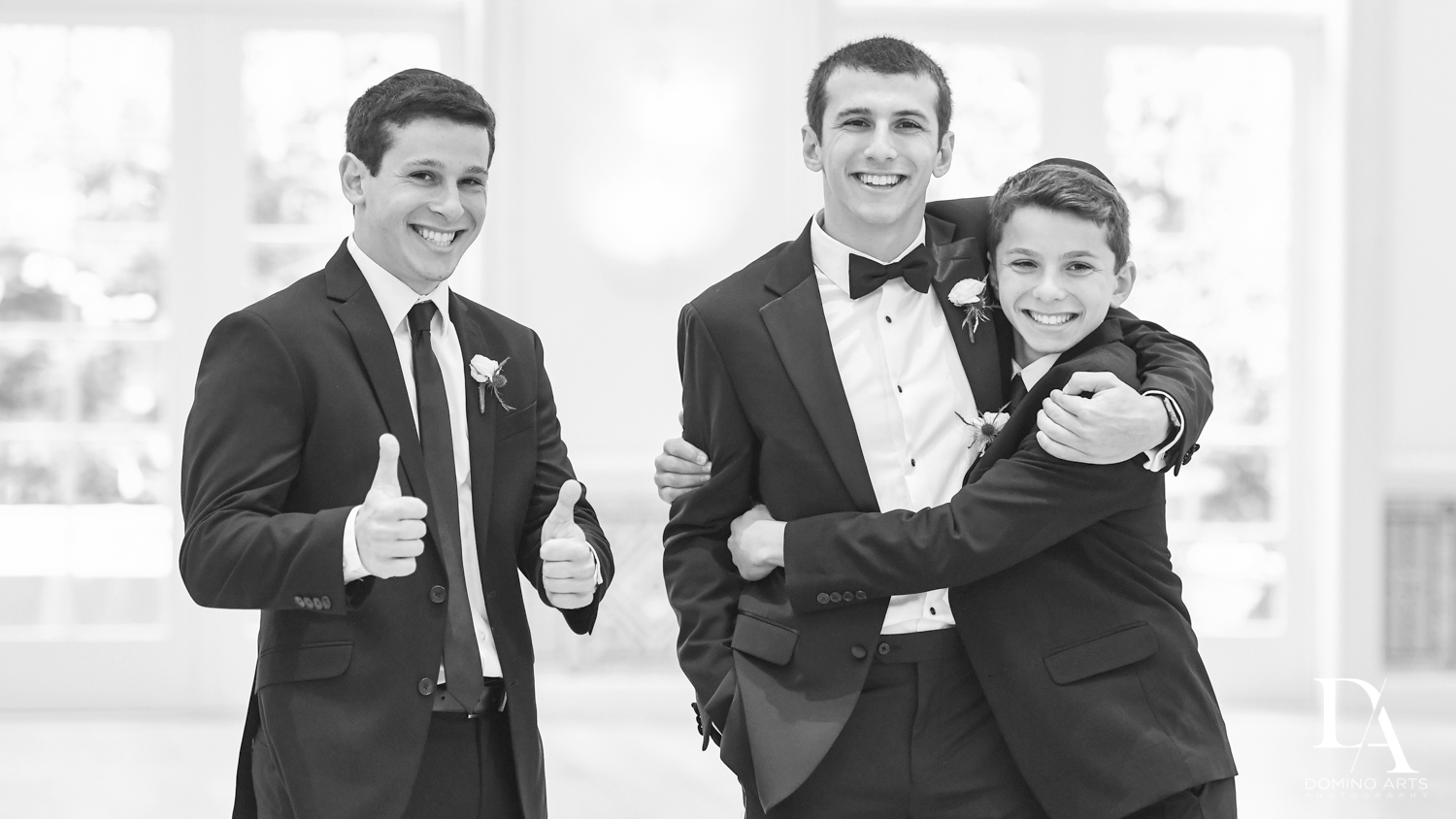 fun siblings at Luxury Summer Wedding at The Colony Hotel Palm Beach by Domino Arts Photography