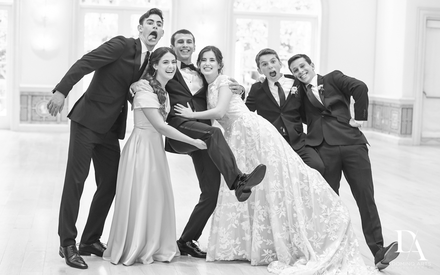 B&W family photos at Luxury Summer Wedding at The Colony Hotel Palm Beach by Domino Arts Photography