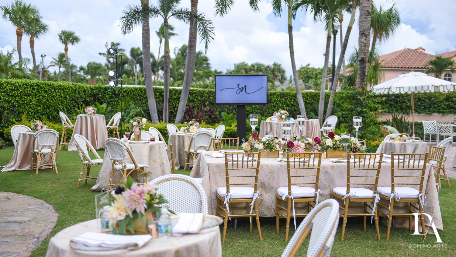 best decor at Luxury Summer Wedding at The Colony Hotel Palm Beach by Domino Arts Photography