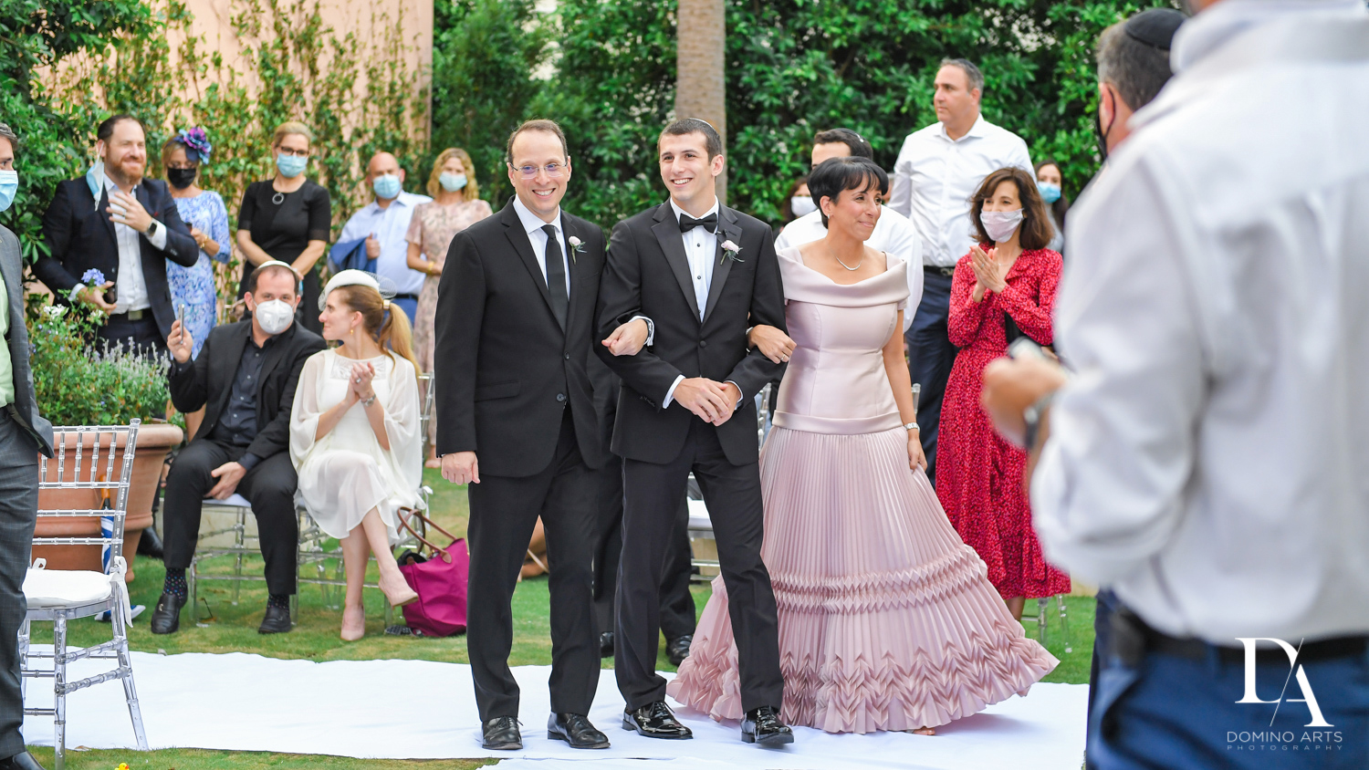 jewish traditions at Luxury Summer Wedding at The Colony Hotel Palm Beach by Domino Arts Photography