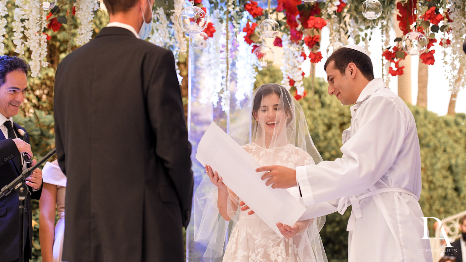 jewish ketubah at Luxury Summer Wedding at The Colony Hotel Palm Beach by Domino Arts Photography