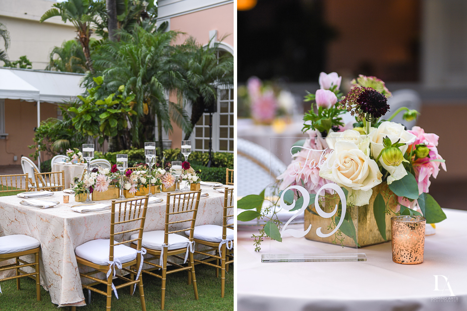 best wedding decor at Luxury Summer Wedding at The Colony Hotel Palm Beach by Domino Arts Photography