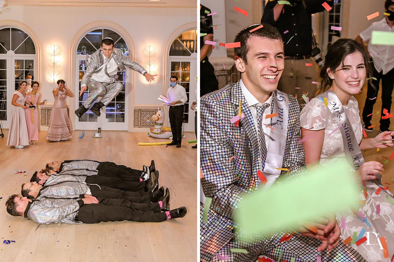 crazy fun party at Luxury Summer Wedding at The Colony Hotel Palm Beach by Domino Arts Photography