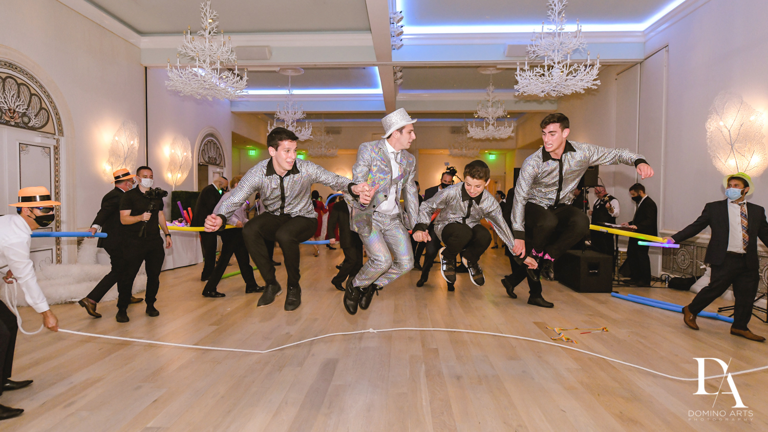 jump rope at Luxury Summer Wedding at The Colony Hotel Palm Beach by Domino Arts Photography