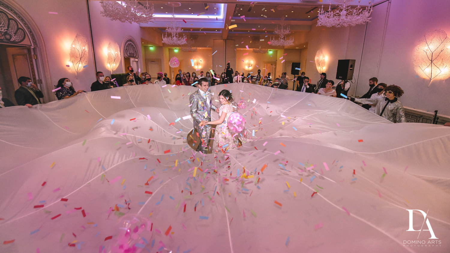 florida wedding shtick rental fun at Luxury Summer Wedding at The Colony Hotel Palm Beach by Domino Arts Photography