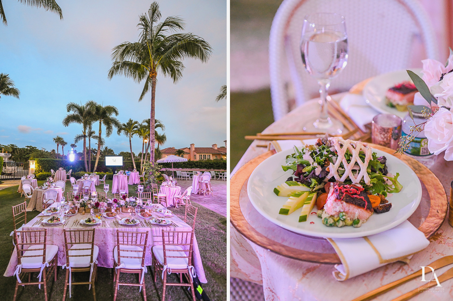 beautiful pastel decor at Luxury Summer Wedding at The Colony Hotel Palm Beach by Domino Arts Photography