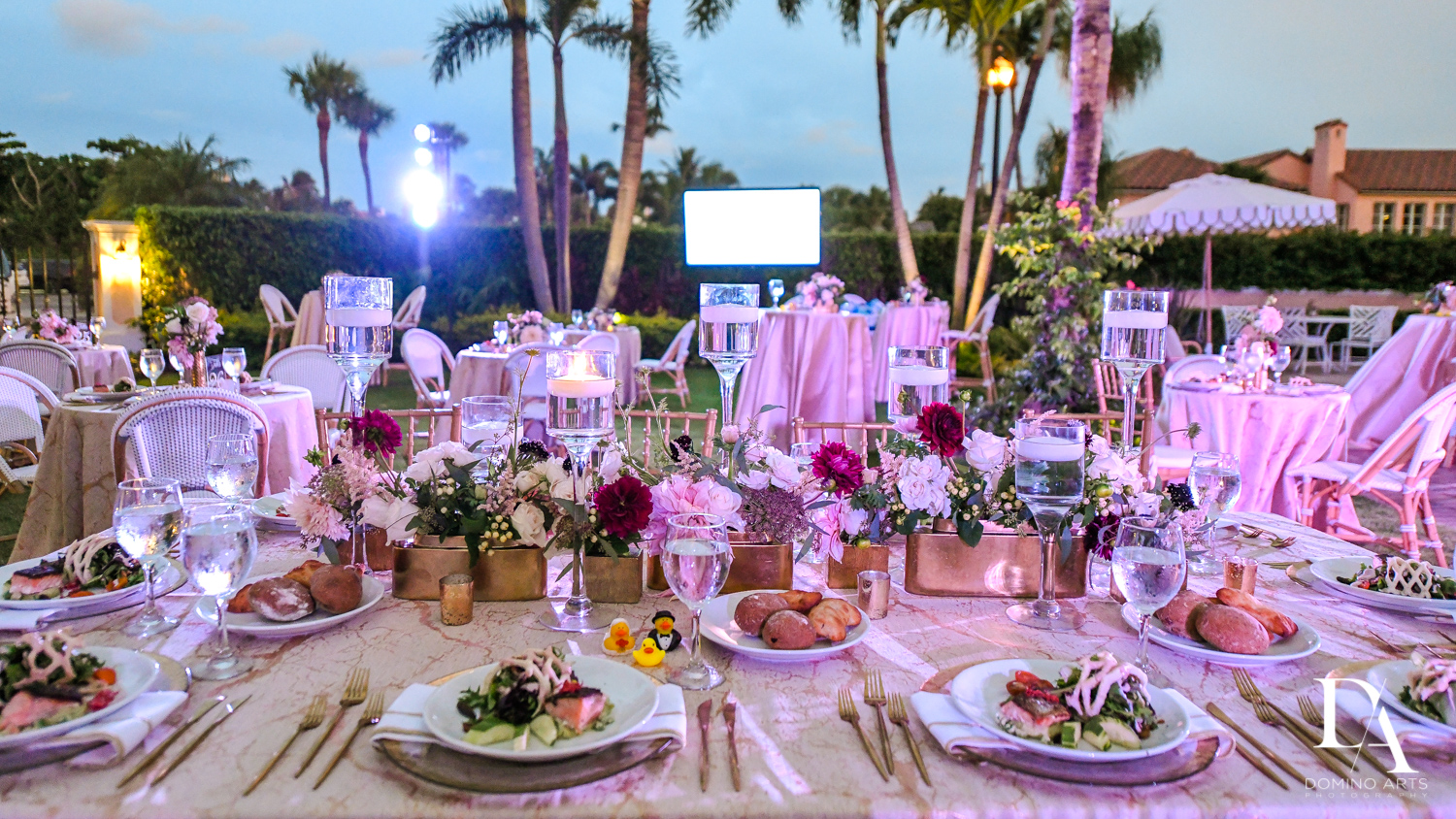 decor by artistique events at Luxury Summer Wedding at The Colony Hotel Palm Beach by Domino Arts Photography