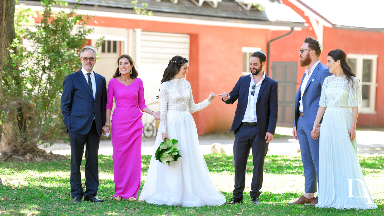 family at Traditional Jewish Wedding at Deering Estate Miami by Domino Arts Photography