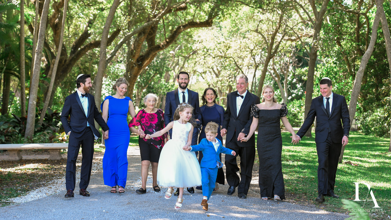 fun family at Traditional Jewish Wedding at Deering Estate Miami by Domino Arts Photography
