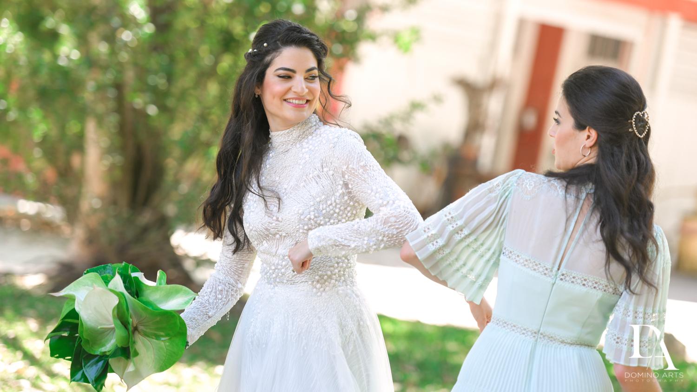 fun photos at Traditional Jewish Wedding at Deering Estate Miami by Domino Arts Photography