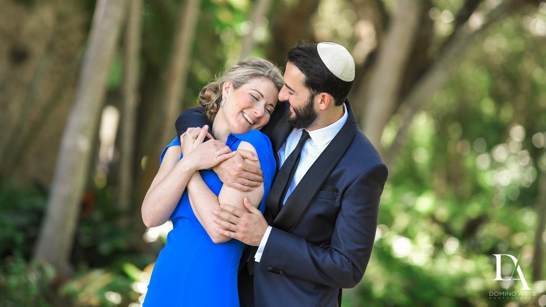 sweet photos at Traditional Jewish Wedding at Deering Estate Miami by Domino Arts Photography