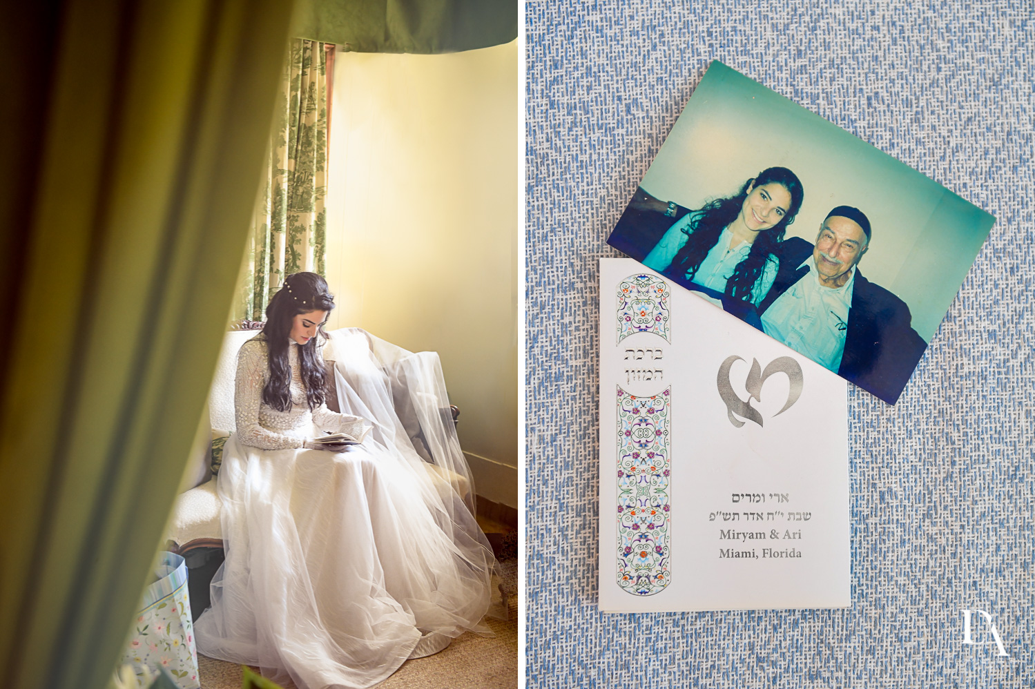 bride details at Traditional Jewish Wedding at Deering Estate Miami by Domino Arts Photography